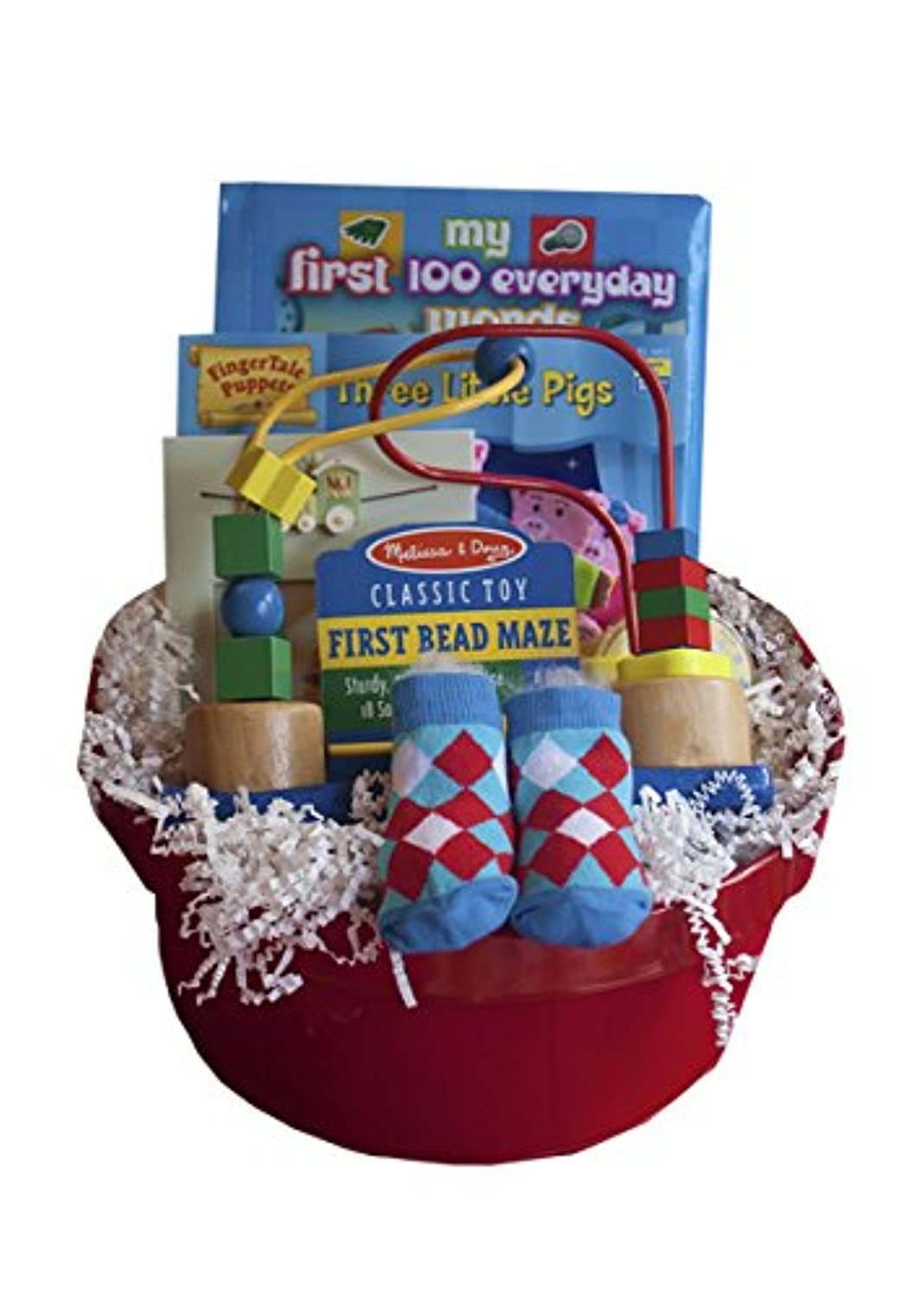 baby-s-first-play-toy-gift-in-re-usable-red-tin-bead-maze-book-photo-frame and More