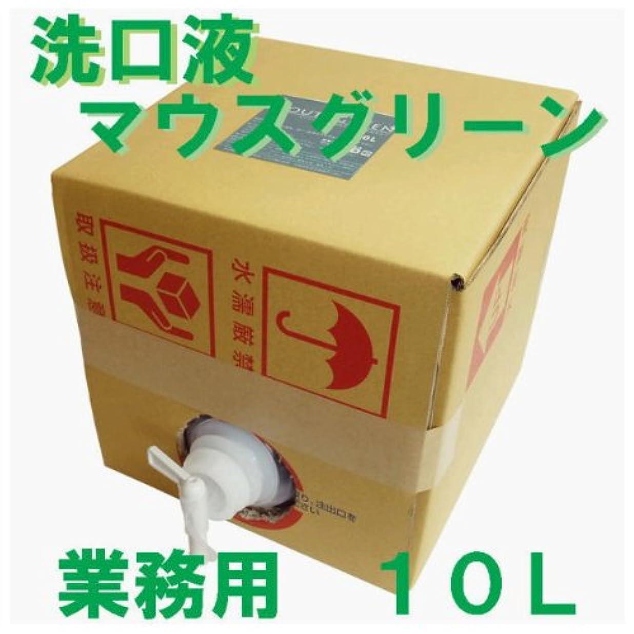 句読点常習的言う業務用 口腔化粧品 マウスグリーン洗口液 10L