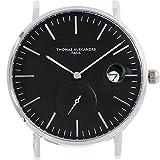 [Thomas Alexandre]トーマ・アレクサンドル 腕時計 フランス 替えベルト対応 ミニマル メンズ/レディース時計 (ブラック)
