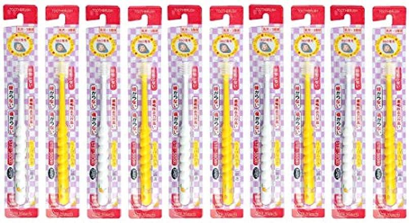 売上高似ている集中360度歯ブラシ STB-360do ベビー 10本セット(カラーはおまかせ)