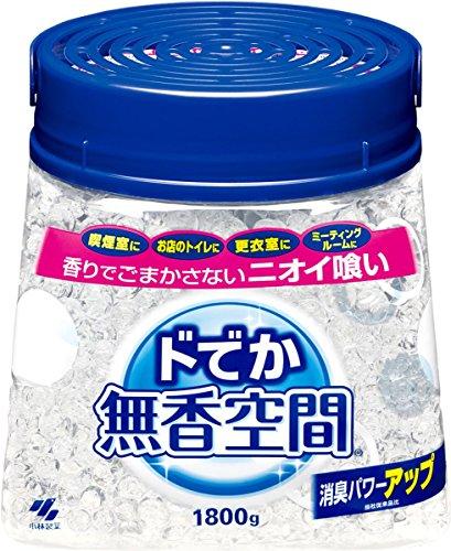 ドでか無香空間 消臭剤 本体 無香料 1800g (リーフレット付き)