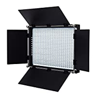 Fovitec - 1x Bi Color 650 LED Panel w/Barndoor & Filters - [90+ CRI][Continuous Lighting][Entry Level Friendly][NP-F Compatible][3200-5600K Range] [並行輸入品]
