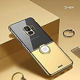 Samsung Galaxy S9+ クリアケース/カバー新品 シンプル メッキ 片手持ち スマホリング付き かっこいい ギャラクシー S9 plus 透明ハードケース/カバー新品 カバー新品 サムスン サムソン おすすめ おしゃれ スマホケース/カバー新品