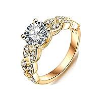 新しい18Kダイヤモンドリングウェディングリング格安0007婚約指輪 us 9
