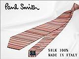 ネクタイ ブランド ポールスミス ネクタイ (8cm幅) PS4 ピンク/グレー系マルチストライプ [並行輸入品]