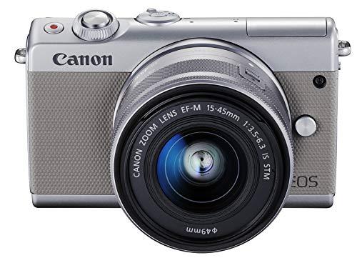 Canon mirrorless interchangeable-lens camera EOS M100 EF-M15-45 IS STM lens kit (gray) EOSM100GY1545ISSTMLK