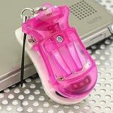 [デジカメも、ケータイも、スマートフォンも充電!] バッテリーパックUSB充電器携帯ストラップ(ピンク)UKJ-BT1-PK