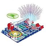 電子ブロック 電気回路実験学習キット 安全ABS素材 ショット防止技術 知育玩具 サイエンス実験 34パーツ 日本語実験ガイド付き 8歳以上向け