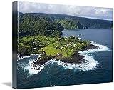 """「ハワイ、マウイ、壁アートプリントKeanae半島に沿ってRoad to H byデザインPics 24"""" x 16"""" 5289841_3_thickbox"""