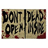 1art1 The Walking Dead Door Mat Floor Mat - Dont Open, Dead Inside (24 x 16 inches) [並行輸入品]