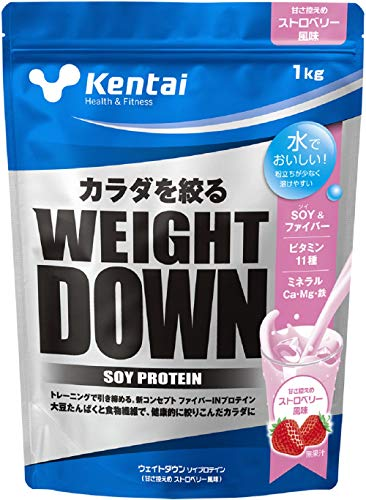 Kentai ウェイトダウン ソイプロテイン ストロベリー風味 1kg