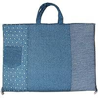 白井産業 日本製 マットdeバッグ デニムガーゼ ブルー
