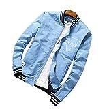 SemiAugust(セミオーガスト)メンズ アウトウェアジャケット 夏秋用 バイクコート ファッションジャケット 男性用 カラーはブルー サイズは3XL (¥ 4,046)