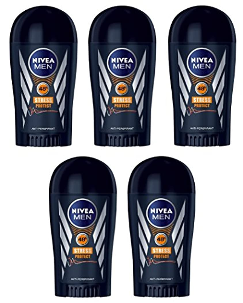 柔らかい純粋に最大化する(Pack of 5) Nivea Stress Protect Anti-perspirant Deodorant Solid Stick for Men 5x40ml - (5パック) ニベア応力プロテクト制汗剤デオドラントスティック...