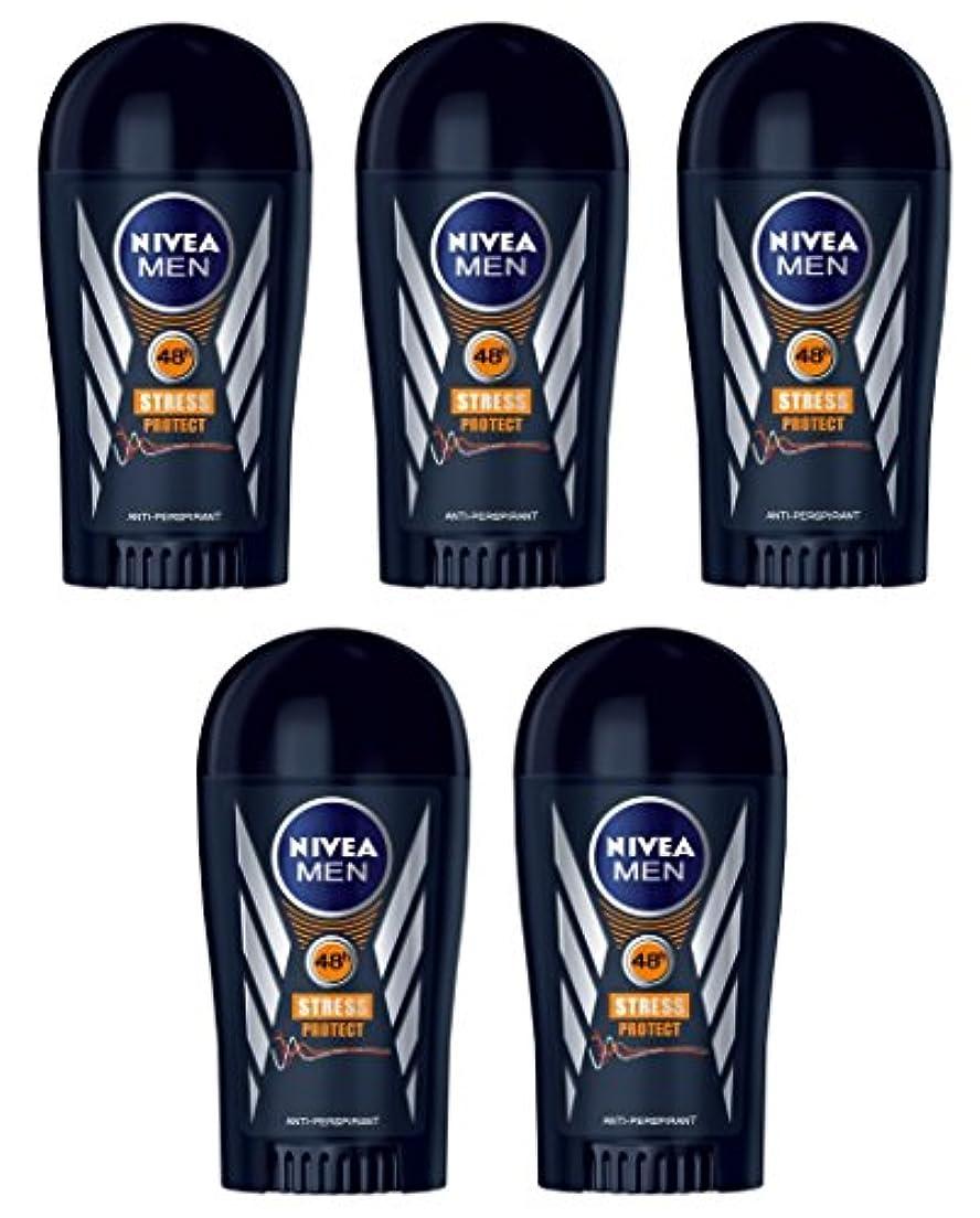株式小道一貫した(Pack of 5) Nivea Stress Protect Anti-perspirant Deodorant Solid Stick for Men 5x40ml - (5パック) ニベア応力プロテクト制汗剤デオドラントスティック...