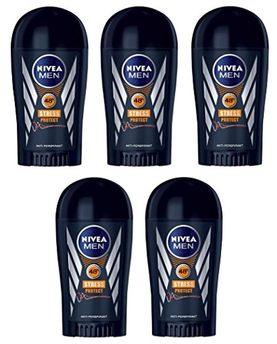 衰えるレタッチ間違っている(Pack of 5) Nivea Stress Protect Anti-perspirant Deodorant Solid Stick for Men 5x40ml - (5パック) ニベア応力プロテクト制汗剤デオドラントスティック...