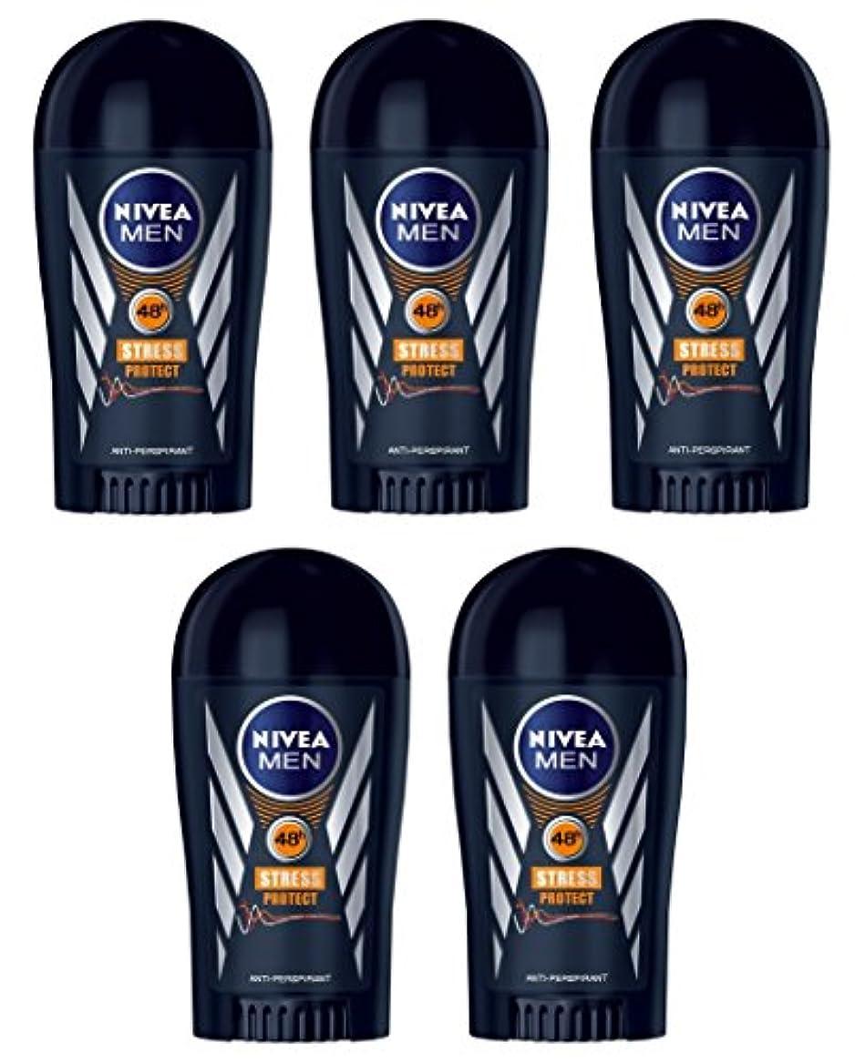 アーティファクト速度神経障害(Pack of 5) Nivea Stress Protect Anti-perspirant Deodorant Solid Stick for Men 5x40ml - (5パック) ニベア応力プロテクト制汗剤デオドラントスティック...
