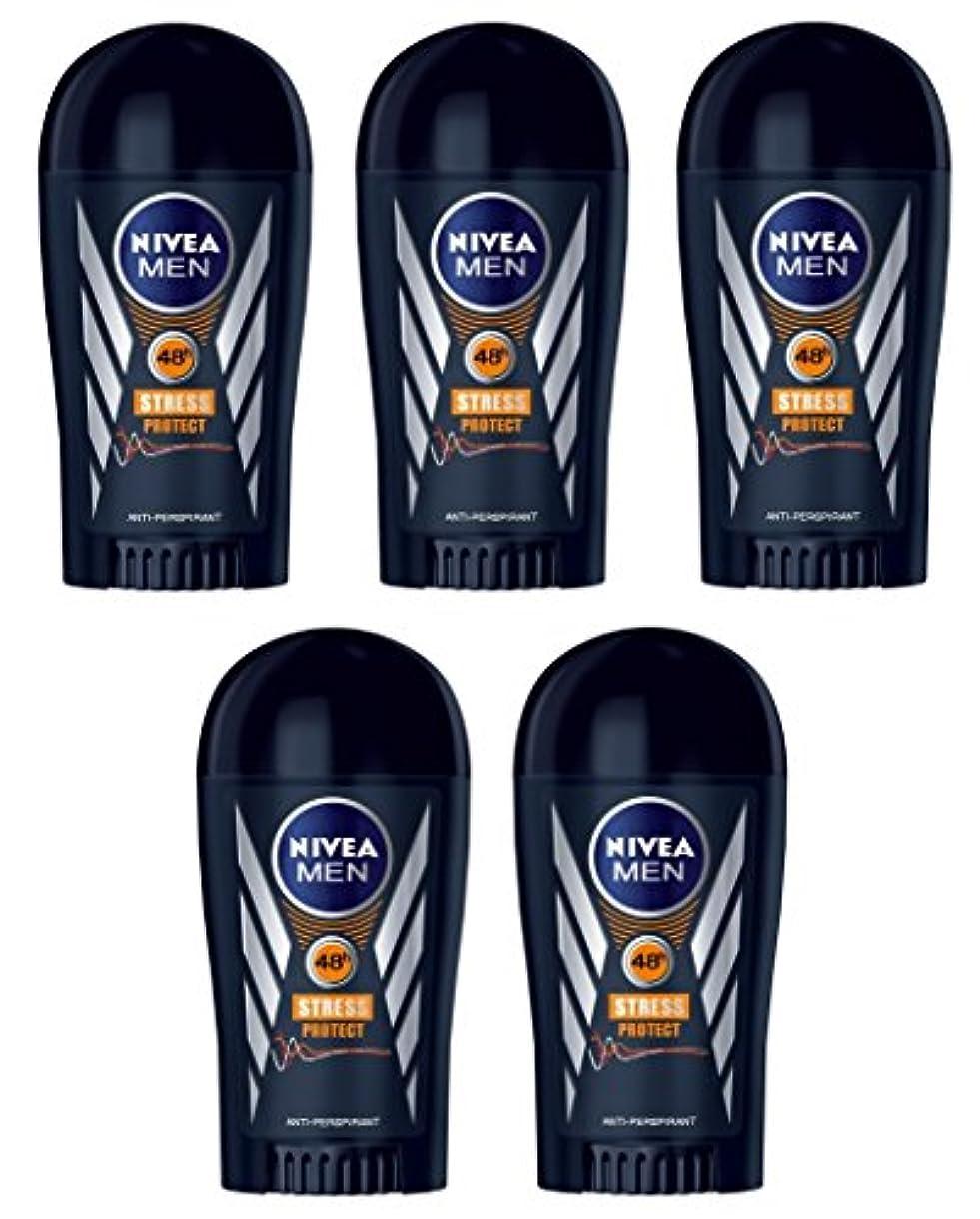 不毛のまばたき入浴(Pack of 5) Nivea Stress Protect Anti-perspirant Deodorant Solid Stick for Men 5x40ml - (5パック) ニベア応力プロテクト制汗剤デオドラントスティック...