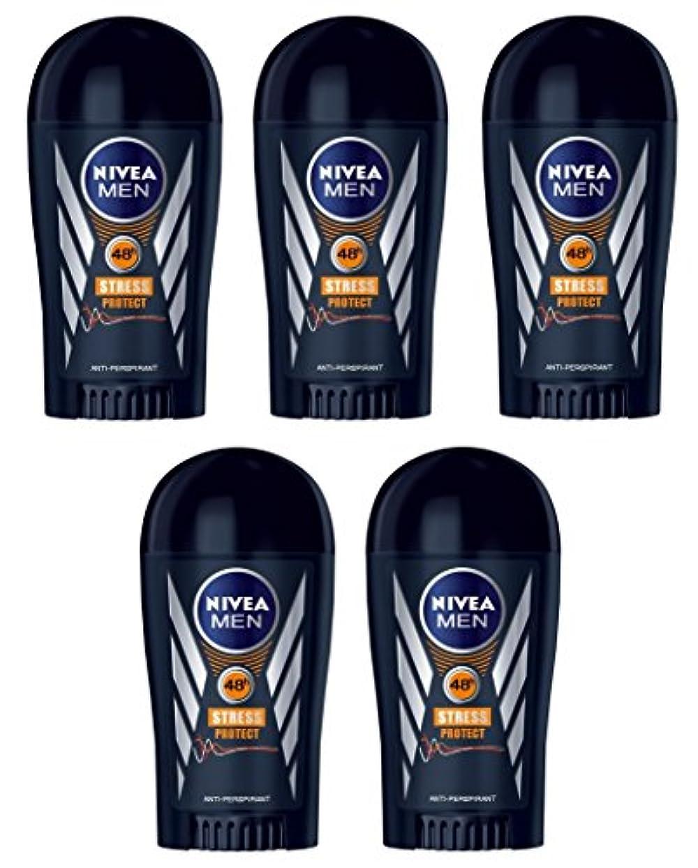 惑星磨かれた魚(Pack of 5) Nivea Stress Protect Anti-perspirant Deodorant Solid Stick for Men 5x40ml - (5パック) ニベア応力プロテクト制汗剤デオドラントスティック...