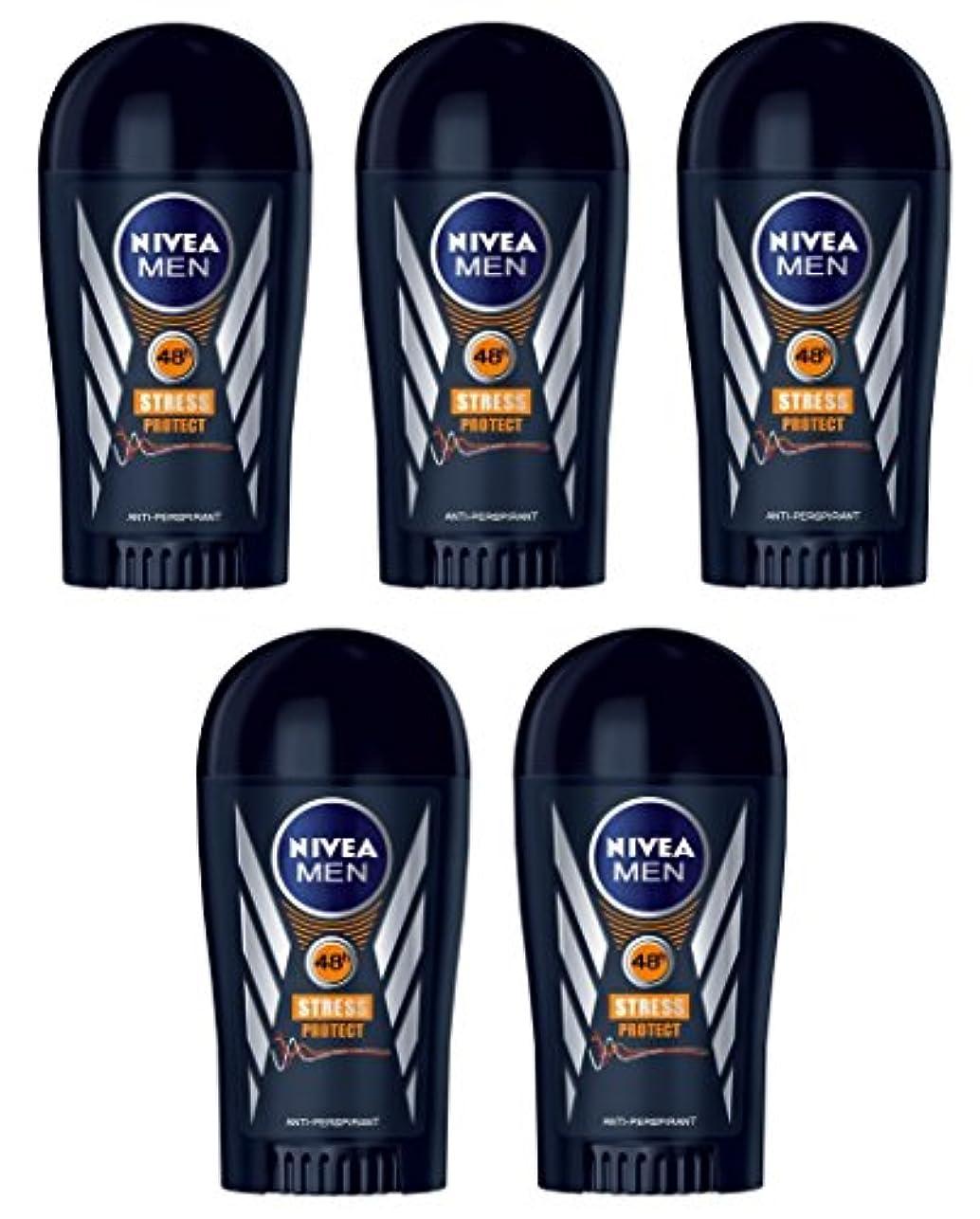 堤防会うマイナー(Pack of 5) Nivea Stress Protect Anti-perspirant Deodorant Solid Stick for Men 5x40ml - (5パック) ニベア応力プロテクト制汗剤デオドラントスティック...