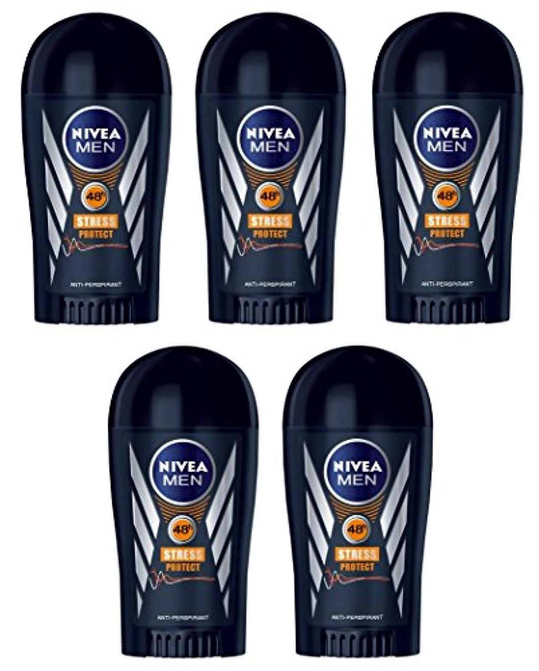 (Pack of 5) Nivea Stress Protect Anti-perspirant Deodorant Solid Stick for Men 5x40ml - (5パック) ニベア応力プロテクト制汗剤デオドラントスティック...
