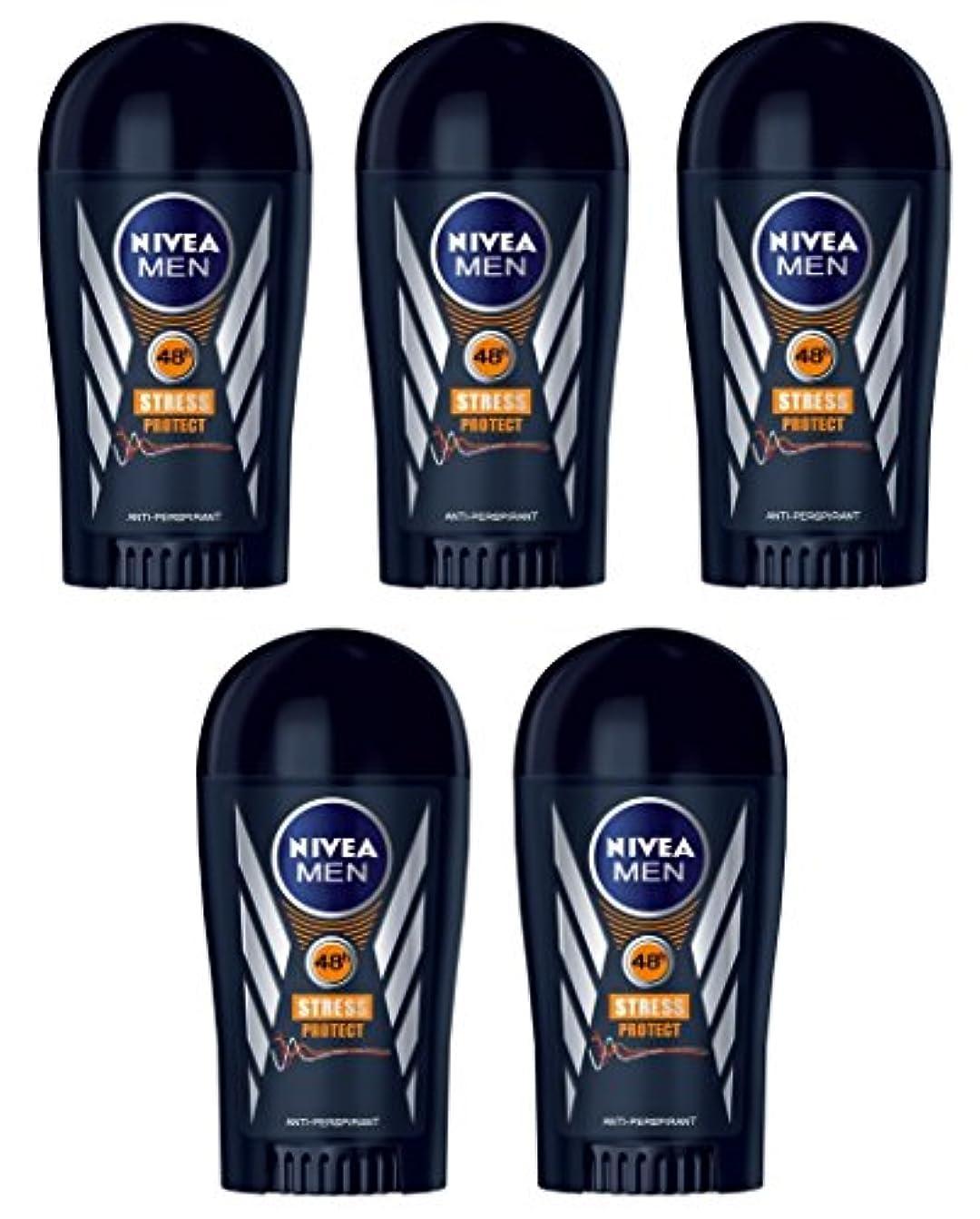 それら時間とともに先生(Pack of 5) Nivea Stress Protect Anti-perspirant Deodorant Solid Stick for Men 5x40ml - (5パック) ニベア応力プロテクト制汗剤デオドラントスティック...