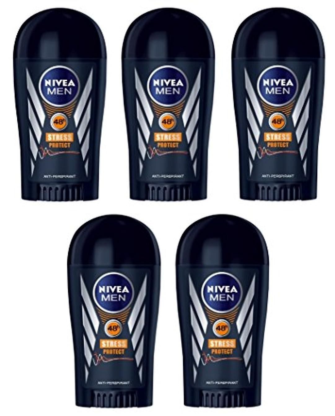 凶暴な誰か生きている(Pack of 5) Nivea Stress Protect Anti-perspirant Deodorant Solid Stick for Men 5x40ml - (5パック) ニベア応力プロテクト制汗剤デオドラントスティック...