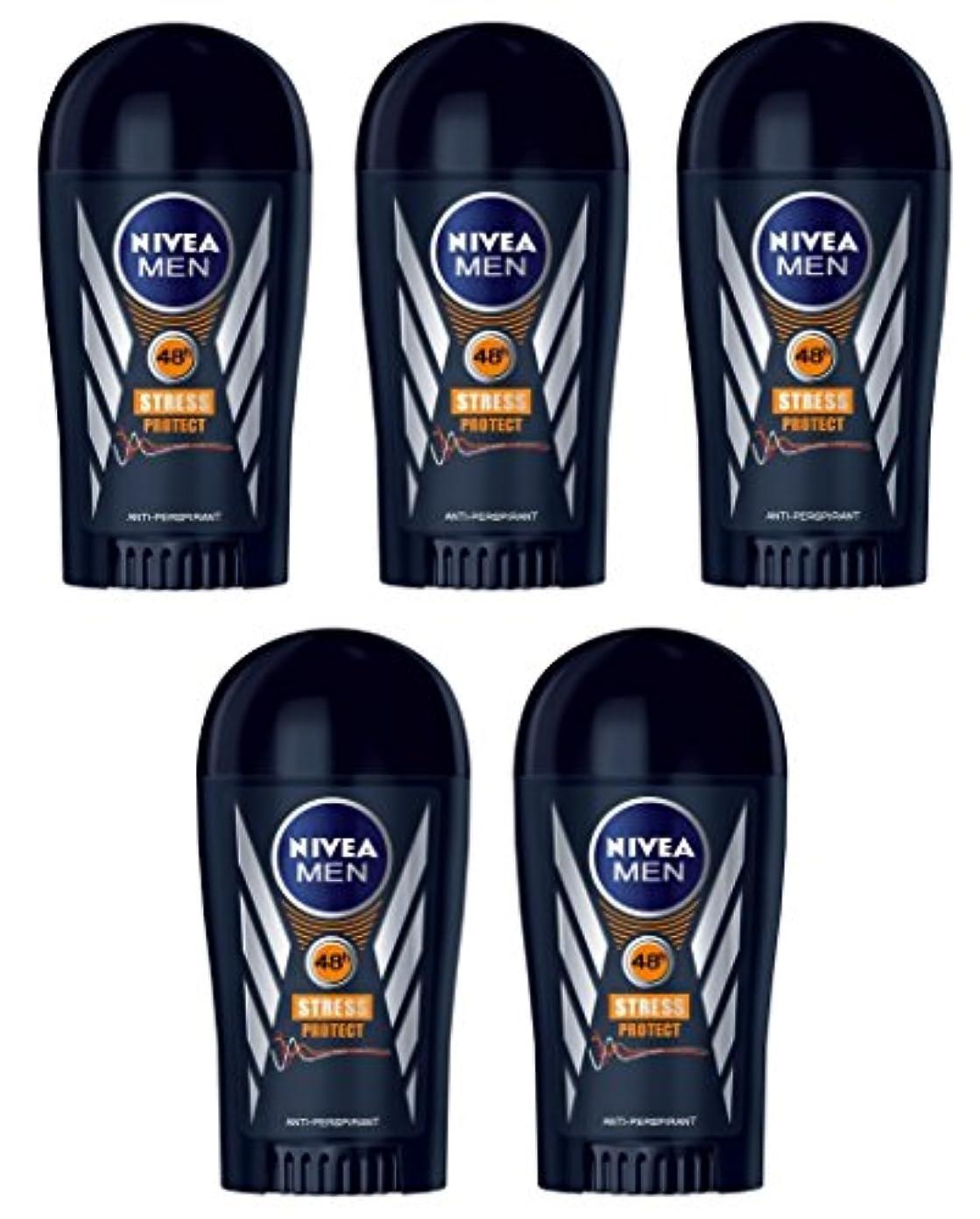 事件、出来事硬化するスーパーマーケット(Pack of 5) Nivea Stress Protect Anti-perspirant Deodorant Solid Stick for Men 5x40ml - (5パック) ニベア応力プロテクト制汗剤デオドラントスティック...