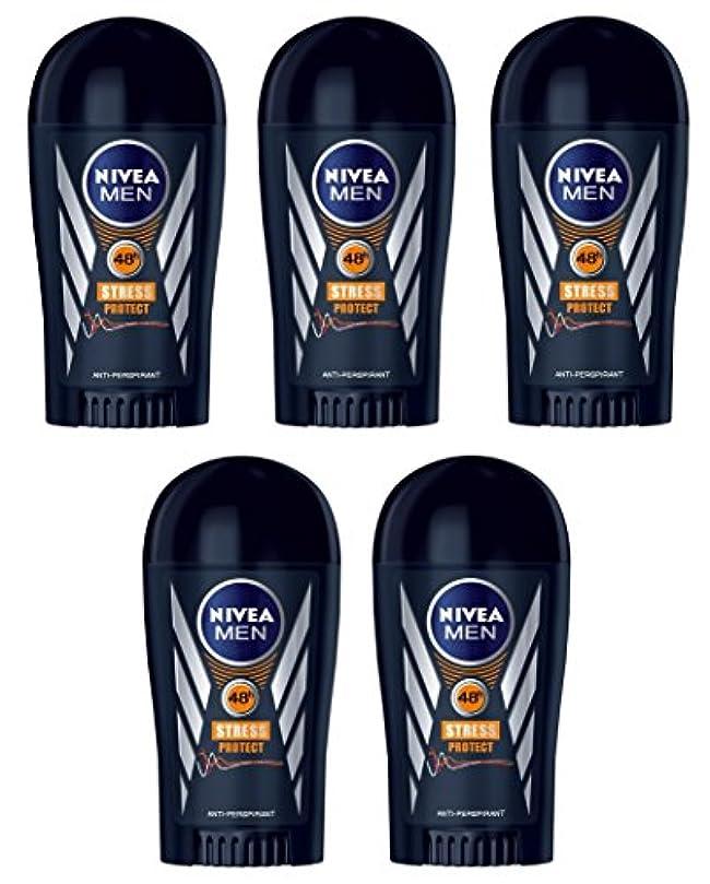 マーチャンダイジング中止します耐久(Pack of 5) Nivea Stress Protect Anti-perspirant Deodorant Solid Stick for Men 5x40ml - (5パック) ニベア応力プロテクト制汗剤デオドラントスティック...