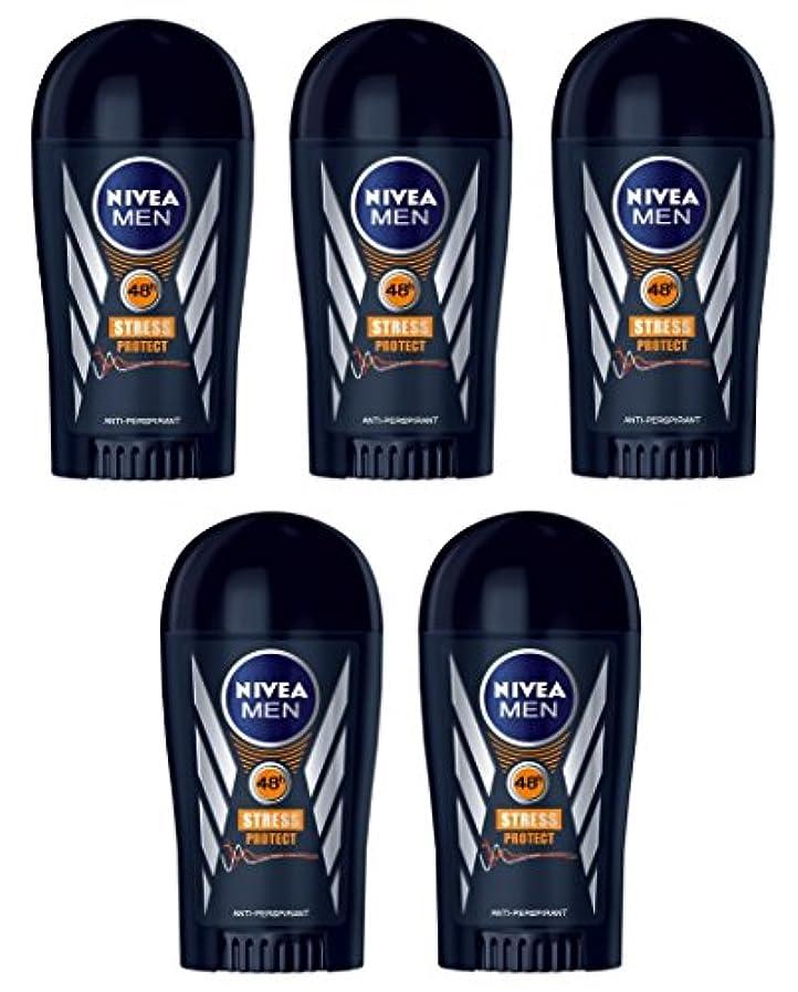 職業泥棒造船(Pack of 5) Nivea Stress Protect Anti-perspirant Deodorant Solid Stick for Men 5x40ml - (5パック) ニベア応力プロテクト制汗剤デオドラントスティック...