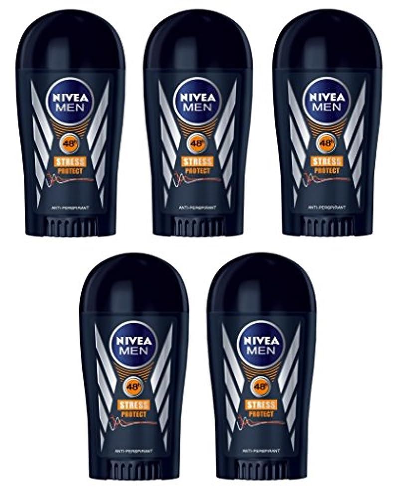 ストレス列挙する一節(Pack of 5) Nivea Stress Protect Anti-perspirant Deodorant Solid Stick for Men 5x40ml - (5パック) ニベア応力プロテクト制汗剤デオドラントスティック...