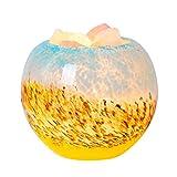 【UP UPKJ】ヒマラヤ岩塩ランプ 空気浄化と癒しの灯り 照明 インテリア用ライト(空色の翼/瑠璃色)