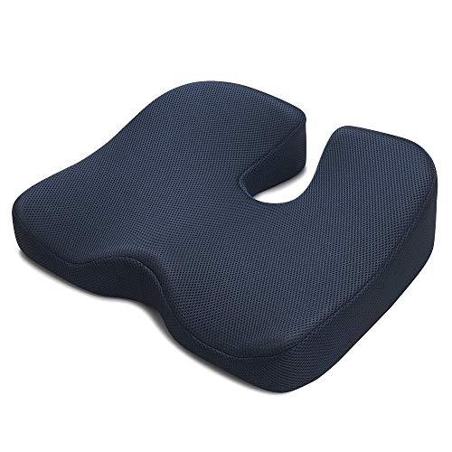 IKSTAR クッション 低反発 座布団 椅子 オフィス腰楽クッション 車用 自宅用 座り心地抜群 体圧分散