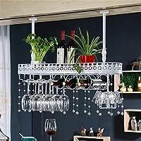 金属製の壁掛けワインラック、バークラフトハンギングカウンターカップホルダー装飾的なワイングラスマグホルダー逆高カップホルダー