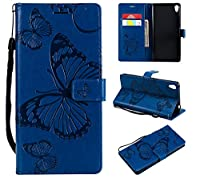 Sony Xperia C6 Case,Moonmini Thin Slim おとこ Full Lens Protection 耐久保護ケース Soft Case Back Cover for Sony Xperia C6 - Blue
