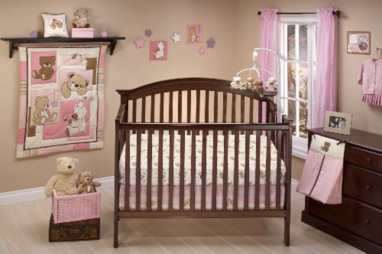 Little Bedding Dreamland Teddy Girl Crib Bedding Set [並行輸入品]