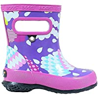 BOGS Kid's Skipper Waterproof Rubber Boys and Girls Rain Boot