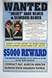 Blues Brothers WantedポスターJake &Elwood Blues Bluesmobile