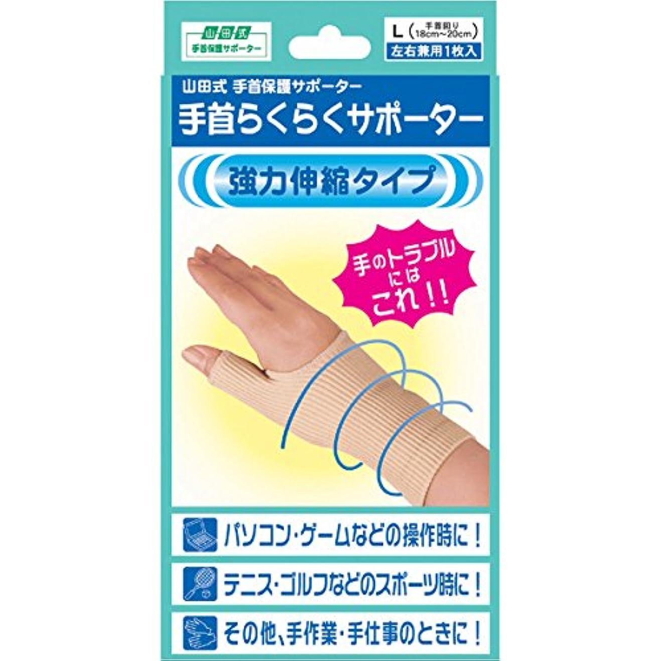 模索排泄するうがい薬(ミノウラ)山田式 手首らくらくサポーター L(手首回り):18-20cm