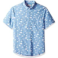Original Penguin Men's Short Sleeve Printed Button Down Shirt