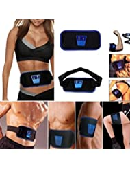 ABGymnic AB Gymnic Electronic Body Muscle Arm leg Waist Abdominal Massage Exercise Toning Belt Slim Fit Belt therapy...