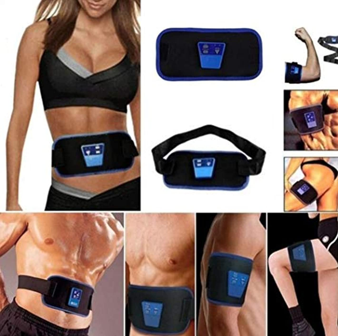 に汚いバイソンABGymnic AB Gymnic Electronic Body Muscle Arm leg Waist Abdominal Massage Exercise Toning Belt Slim Fit Belt therapy...