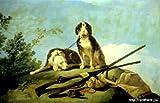 ゴヤ 「猟犬と狩猟」 原画同縮尺近似(25号) goya-03-06