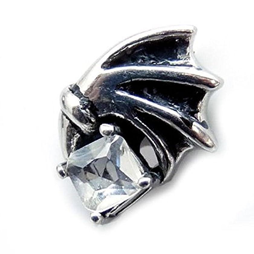 報告書電化する定規ピアス メンズ マグネットピアス 磁石 ステンレス製 コウモリ フェイクピアス クリア chfp26