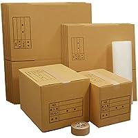 ボックスバンク ダンボール 引っ越し セットM 段ボール箱 ●ダンボール箱(大・中)20枚、プチプチ、クラフトテープ ZH14-0020-a2