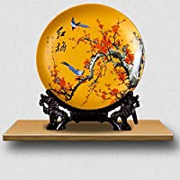 装飾品GAODUZIホームセラミックス彫刻アクセサリーエンボス装飾プレート工芸品陶器テレビキャビネットワインリビングルーム装飾工芸品(パターン:C)