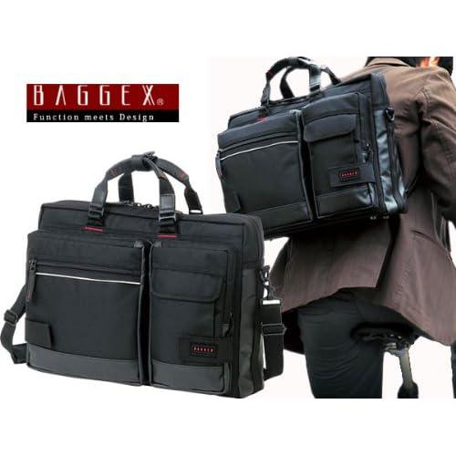 バジェックス BAGGEX 3WAY ビジネスバッグ メンズ 23-5514-10 ブラック