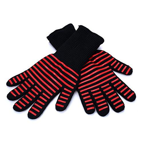 Merisny 耐熱グローブ (耐熱温度500度) バーベキューグローブ BBQグローブ 鍋つかみ オーブ ミトン シリコン手袋 滑り止め 2枚セット 産業、電子レンジ、オーブン、暖炉、 木炭の外部処理など用
