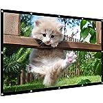 プロジェクタースクリーン 新しい折り畳み式シワなしTIANSHU スクリーン100インチ 16:9 ホームシアター オフィス会議 教室 屋内外投影用 プロジェクタースクリーン100インチ