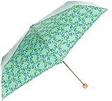 [ムーンバット] エスタ【estaa】 折りたたみ傘(手開き)・UV リース柄 31-230-20022-02 レディース ミントグリーン 日本 親骨55㎝ (FREE サイズ)